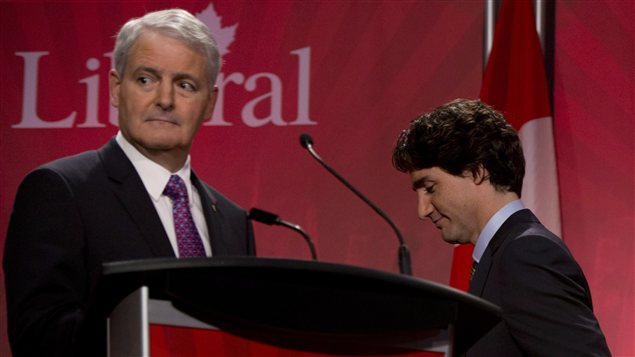 Marc Garneau et Justin Trudeau