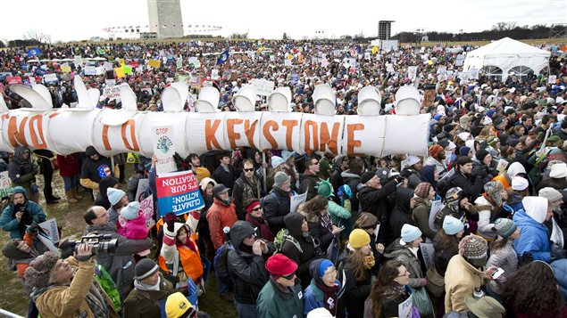 La manifestation à Washington, le 17 février