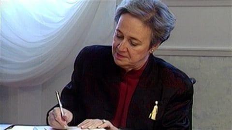 Lise Thibault alors qu'elle était lieutenante-gouverneure.