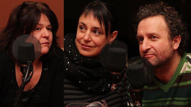 Manon Harvey, Hélène Choquette et Daniel Brière  ©Radio-Canada/Marie-Sandrine Auger