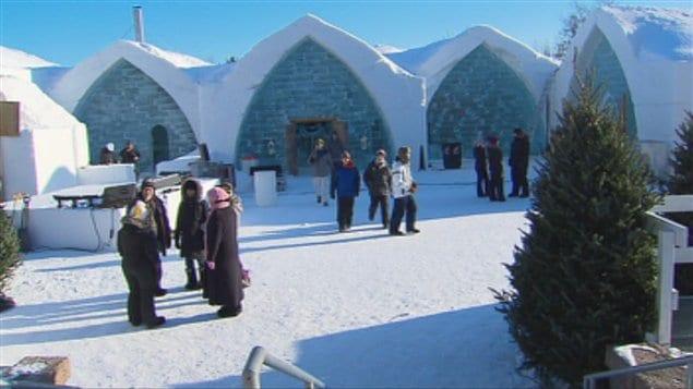 L'Hôtel de glace à Québec