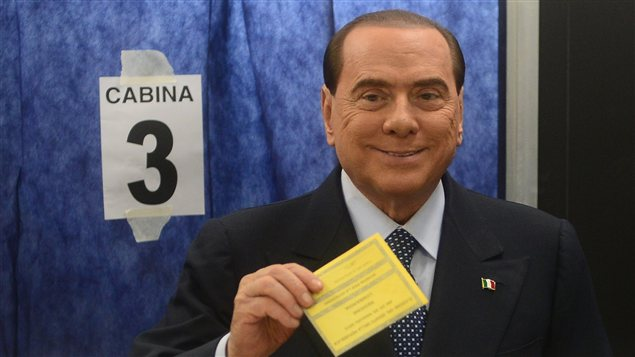 Silvio Berlusconi lors de son vote