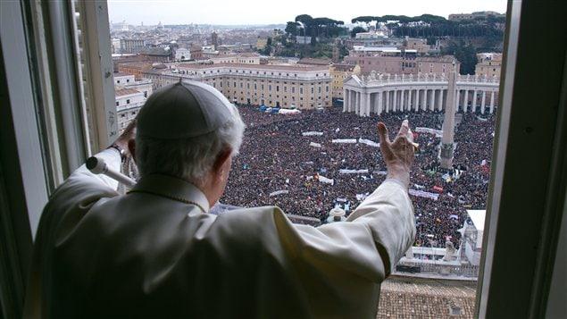 Le pape Benoît XVI lors de son dernier angélus