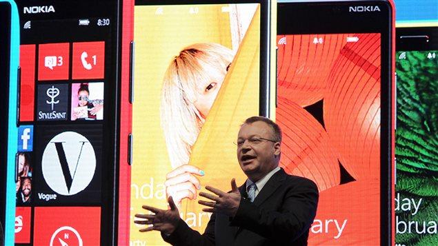 Le grand patron de Nokia, Stephen Elop, à Barcelone lundi
