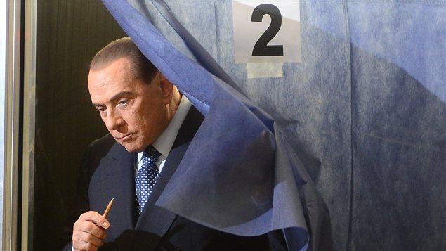 Le chef de la droite italienne Sylvio Berlusconi