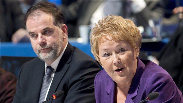 La première ministre Pauline Marois et le ministre de l'Enseignement supérieur, Pierre Duchesne
