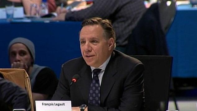 Le chef de la CAQ François Legault au premier jour du Sommet sur l'enseignement supérieur à Montréal