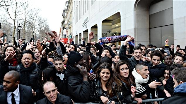 La foule venue voir Zinédine Zidane et David Beckham