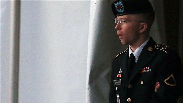 Bradley Manning, lors d&#39;une comparution le 8 janvier dernier