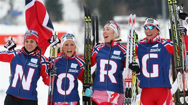 Le relais féminin norvégien.