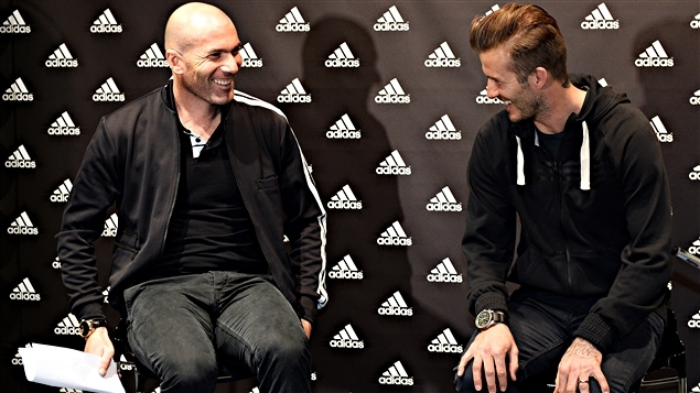Zinédine Zidane et David Beckham