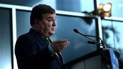 Le ministre des Finances Jim Flaherty lors de la conférence de presse, le 1er mars 2013
