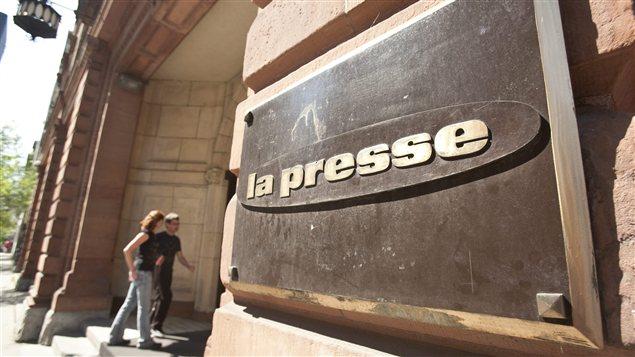 Les bureaux de La Presse à Montréal