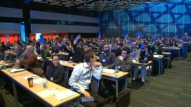 Environ 1000 militants d'Option nationale sont réunis à Montréal dans le cadre du premier congrès national du parti.