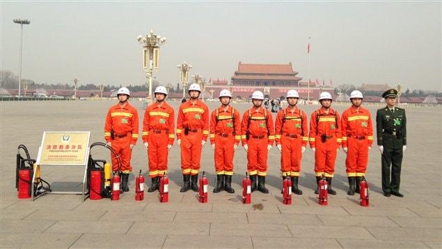 Avec la tenue de l'Assemblée nationale populaire, les pompiers sont aussi sur un pied d'alerte.