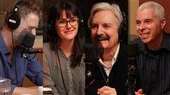 Fred Savard, Julie Dufort, Marc Laurendeau et Robert Aird  ©Radio-Canada/Marie-Sandrine Auger