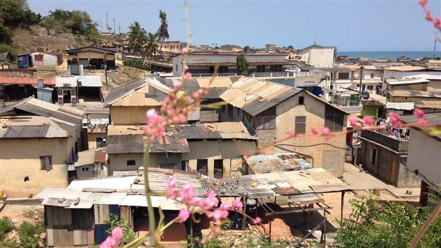 Cape Coast, au Ghana, vue du balcon de la cathédrale