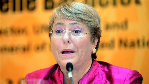 La alta comisionada para los Derechos Humanos de Naciones Unidas, Michelle Bachelet