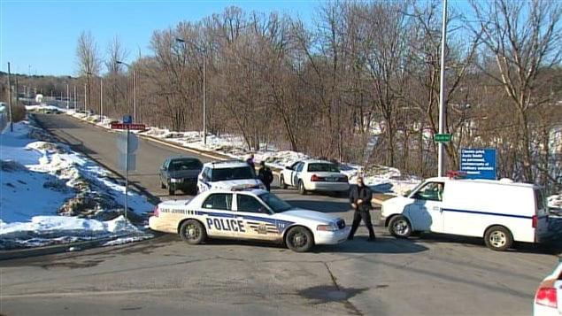 Des voitures de la police de Saint-Jérôme, le 17 mars 2013