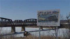 Le vieux pont de Saint-Louis en Saskatchewan.