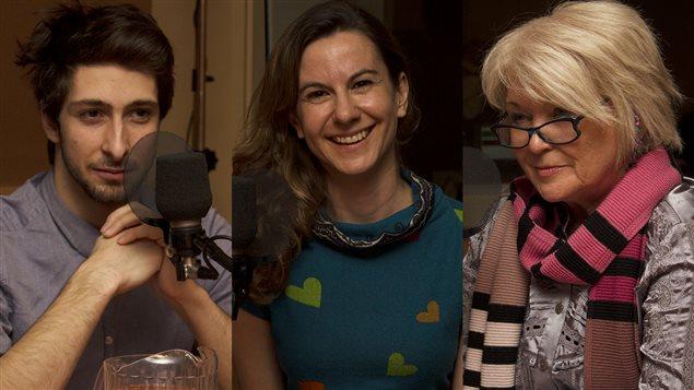Charles Boutaud, Eza Paventi et Jocelyne Robert  ©Radio-Canada/Marie-Sandrine Auger
