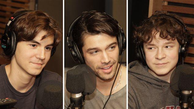 Raphaël Grenier-Benoît, Joey Scarpellino et Louis-Philippe Beauchamp |©Radio-Canada / Philippe Couture