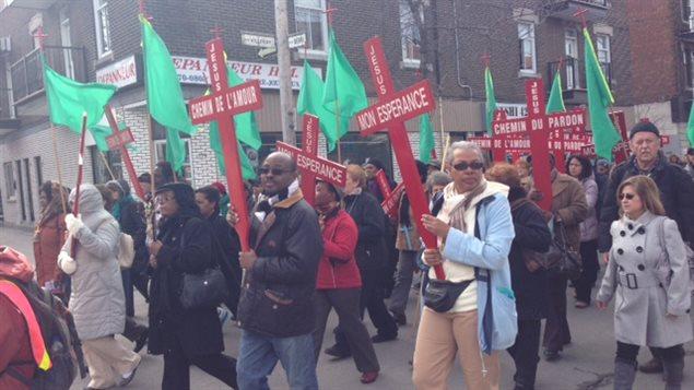 مشهد من مسيرة الغفران في مونتريال عام 2013.