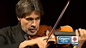 John Lowry es el primer violinista de la Filarmónica de Calgary y toca con un Sandvoss.