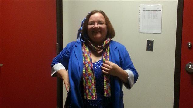 Jocelyne Sylvestre, directrice générale de Trait d'Union Outaouais, membre du conseil d'administration de la Fédération québécoise de l'autisme et responsable du Mois de l'autisme en Outaouais.