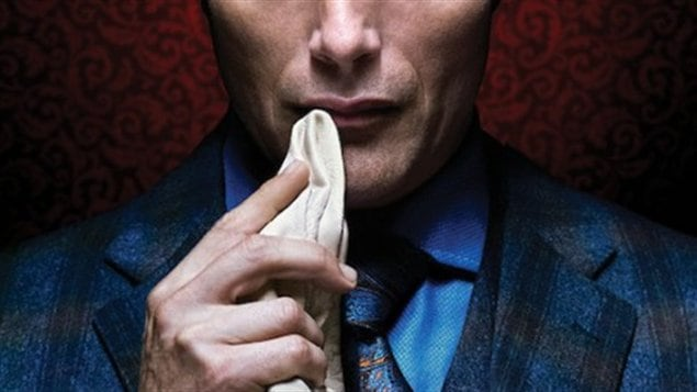 Une partie de l'affiche d'« Hannibal ». Le personnage de la série télévisée, l'agent Jack Crawford, est inspirée de Robert Ressler.