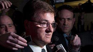 El diputado conservador Leon Benoit cuando se retiraba de la reunión de diputados de su partido el pasado 27 de marzo.