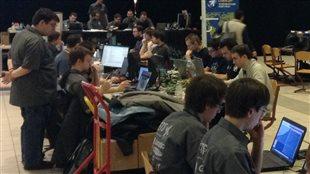 Des participants à l'épreuve NorthSec