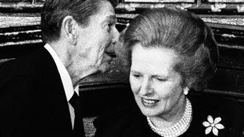 Ronald Reagan et Margaret Thatcher en juin 1984 à Londres.