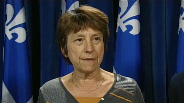 La députée de Québec solidaire Françoise David