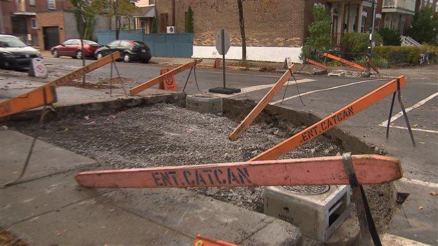 La réfection des trottoirs à Montréal