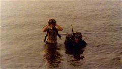 Hubert Chrétien à 11 ans avec son instructeur