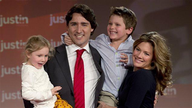 Justine Trudeau et sa famille