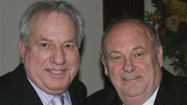 Bernard Trépanier et Michel Bissonnet ancien président de l'Assemblée nationale et député libéral.