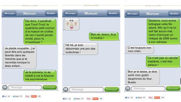Trois textos d'<em>Avec maman</em> © avecmaman.tumblr.com