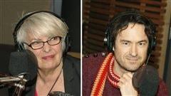 Brigitte Haentjens et Sébastien Ricard  © Radio-Canada / Philippe Couture