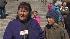 Caroline Lebel, parent d'un élève qui fréquente l'École de cirque de Québec