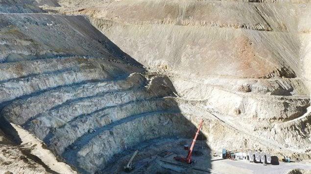 Una explotación minera de la empresa canadiense Barrick en Chile.