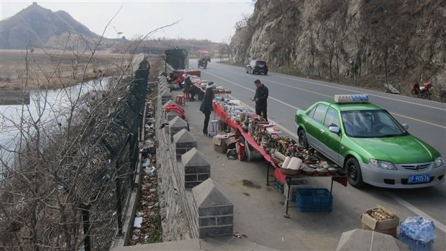 Halte touristique à la frontière sino-coréenne