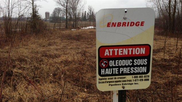 Enbridge souhaite inverser l'écoulement d'un tronçon de son pipeline, ce qui lui permettrait de transporter du pétrole dans l'est.