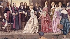 <i>L�arriv�e des Filles du Roi en 1667</i> de Eleanor Fortescue-Brickdale / � Eleanor Fortescue-Brickdale, Biblioth�que et Archives Canada, Wikip�dia