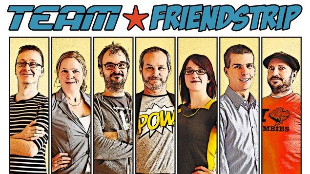 L'équipe de créateurs de Friendstrip chez PhotoInPress