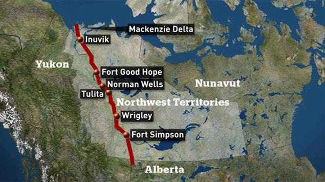 Le projet de pipeline le long du fleuve MacKenzie dans les Territoires du Nord-Ouest