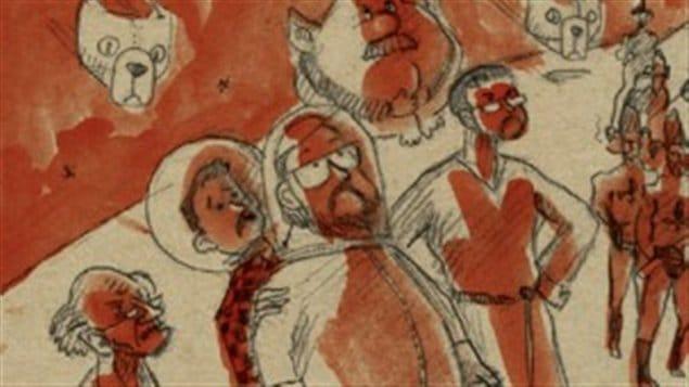 D�tail de la couverture de <em>Motel Galactic 2</em>, de Francis Desharnais et Pierre Bouchard