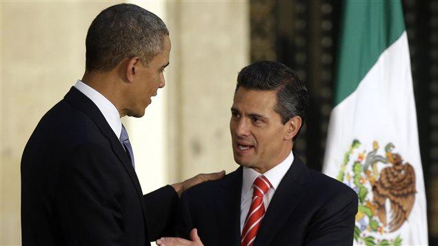 Le président Barack Obama et le président Henrique Peña Nieto à Mexico.