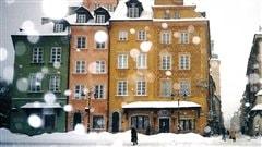 Journée de neige à Varsovie